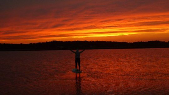STANDUP PADDLE SUNSET GLOW